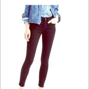 J. Crew toothpick high rise black jeans